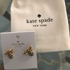 Kate Spade ♠️ NWT Adorable Pave Bee 🐝 Studs